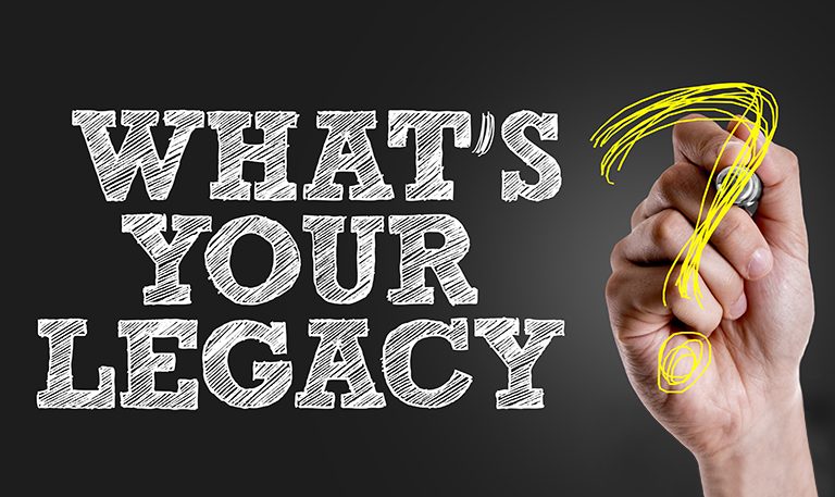 The need to leave a legacy is increasingly important as we grow older