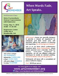 Art2Connect: Helen Frankenthaler: Abstract Expressionism with Watercolor @ Brightwater Center | Woodinville | Washington | United States
