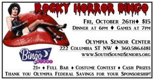Rocky Horror Bingo @ Olympia Senior Center | Olympia | Washington | United States