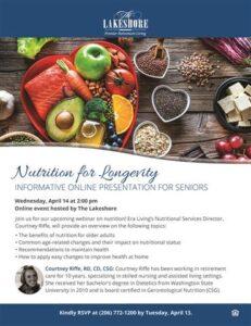Webinar: Nutrition for Longevity @ The Lakeshore
