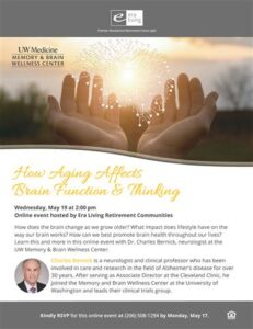 Webinar: How Aging Affects Brain Function & Thinking @ Era Living Retirement Communities |  |  |