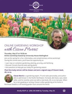 Online Gardening Workshop with Ciscoe Morris @ University House Wallingford