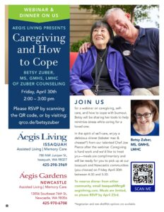 Caregiving and How to Cope Webinar and Dinner on Us @         