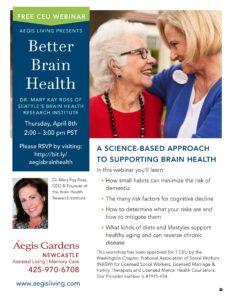 Better Brain Health Free Webinar @         