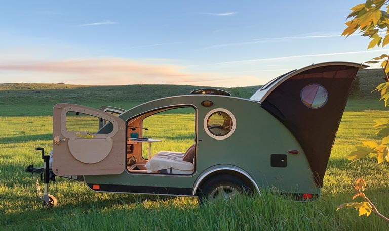 Air strip camping in Painted Hills, OR