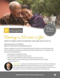 Webinar: Turning a No Into a Yes - When to Make a Move to Memory Care (And How to Do It) @ Era Living Memory Care        