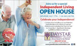 Celebrate Independence Open House @ Daystar Retirement Village        