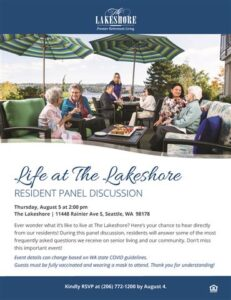 Life at The Lakeshore: Resident Panel Event @ The Lakeshore        