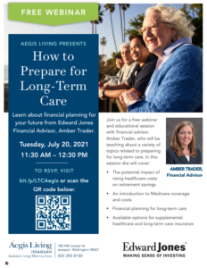 How to Prepare for Long Term Care @ Webinar on Zoom         