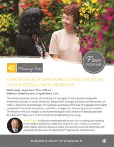Webinar: Strategies for Improving Communication with a Person with Dementia @         