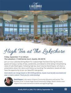 High Tea at The Lakeshore @ The Lakeshore Retirement Community        