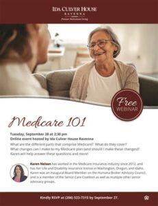 Webinar: Medicare 101 @ Ida Culver House Ravenna |  |  |