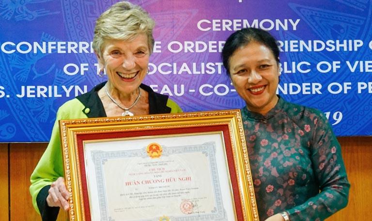 Jerilyn Brusseau with Nguyen Phuong Nga