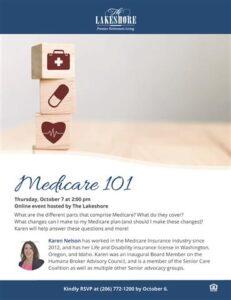 Webinar: Medicare 101 @ The Lakeshore        